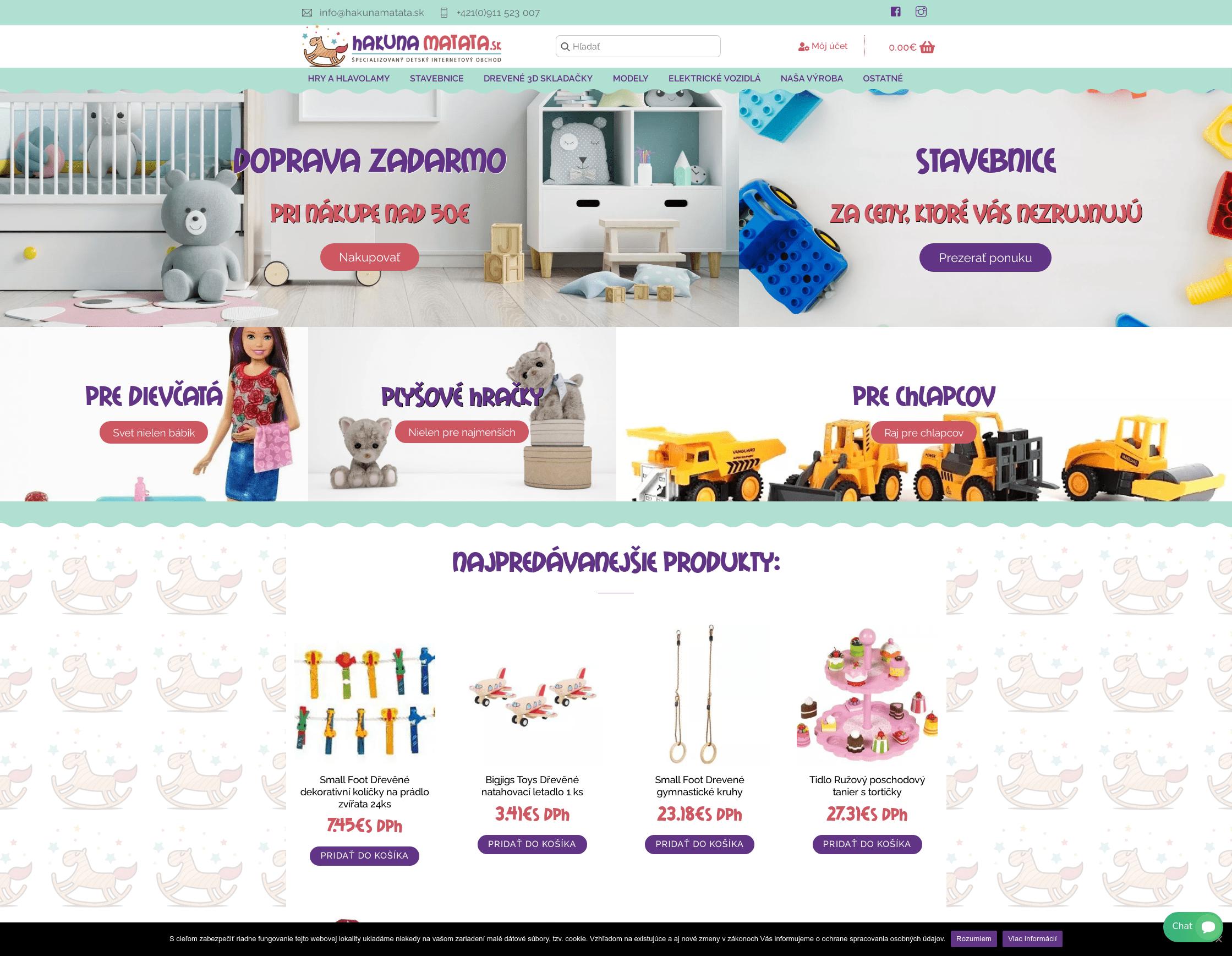 HakunaMatata – Detský internetový obchod